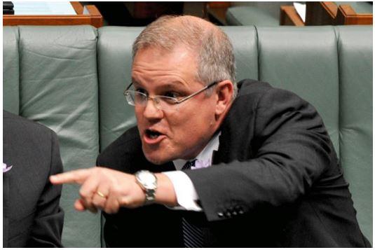 Scott Morrison pointing finger