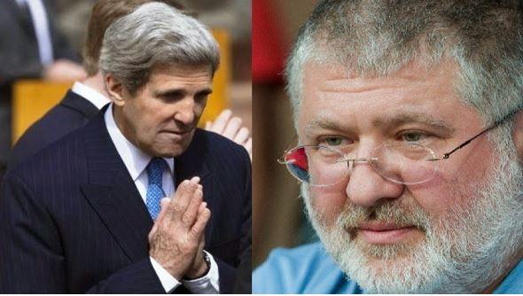 Ihor Kolomoisky with John Kerry