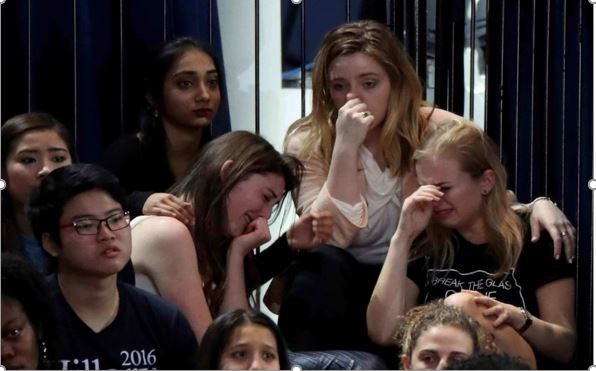 Democrats crying after Trump's election