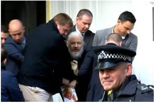 Julian Assange Being Arrested