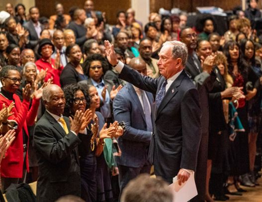 Bloomberg adresses black church to apologise