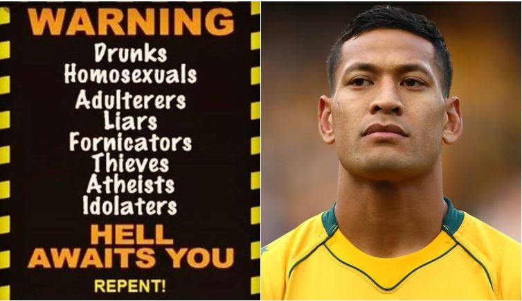 Israel Folau sacked by rugby Australia for Christian beliefs. Raelene Castle refuses to step down